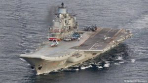 Russia's Admiral Kuznetsov aircraft carrier. /Reuters