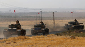 Turkey has deployed tanks and artillery near Iraq's northern border. /Reuters
