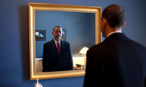 President-elect Barack Obama prepares to take the oath of office. / Pete Souza / White House