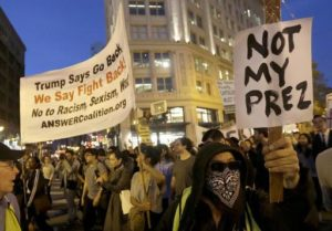 Anti-free and fair election protesters in San Francisco. /AP