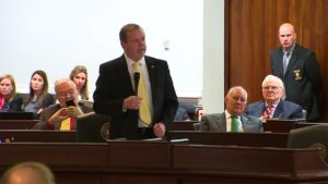 North Carolina state Senate leader Phil Berger speaks during the special session convened on Dec. 21.