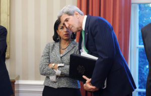 Secretary of State John Kerry with National Security Adviser Susan Rice. /EPA