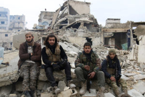 Rebel fighters in eastern Aleppo, Syria, on Dec. 16. / Reuters