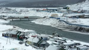 Kurilsk on the island of Iturup, one of four islands known as the Kurile Islands in Russia and the Northern Territories in Japan. / AFP