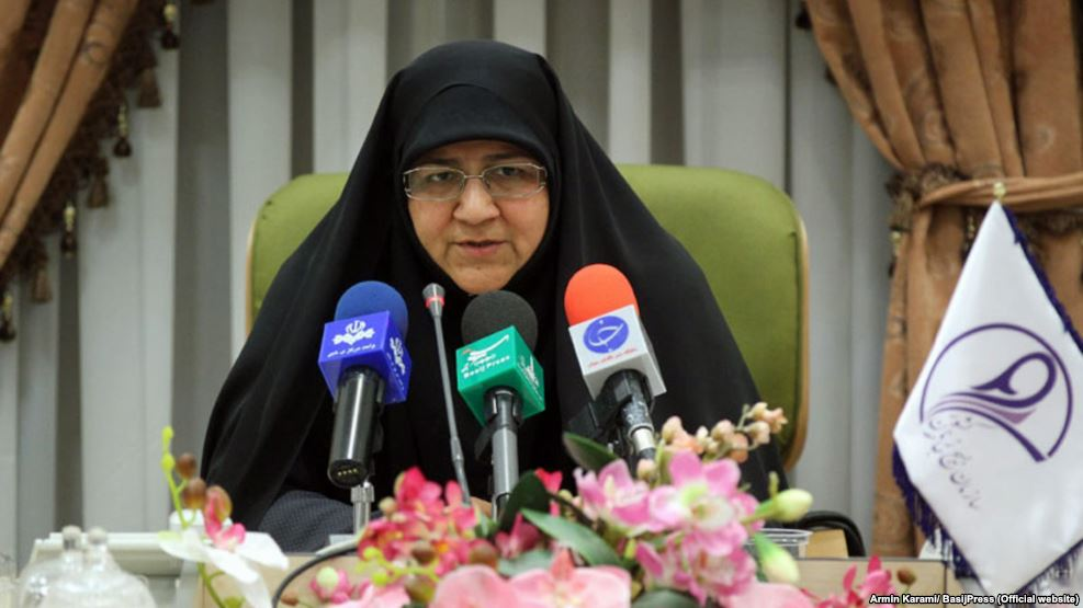 Minou Aslani, head of the Women's Basij organization in Iran.
