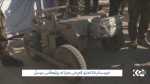 remote-guided car bomb confiscated by the Iraqi army in Mosul on Nov. 28. /Kurdistan24