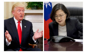 President-elect Donald Trump and Taiwan President Tsai Ing-wen.