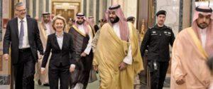 German Defense Minister Ursula von der Leyen meets with Saudi officials in Riyadh. /Twitter