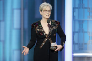 Meryl Streep skewers President-elect Donald Trump at hte Golden Globes. /NBCUniversal via Getty Images)