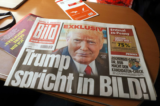 Bild Zeitung Publishes Exclusive Trump Interview
