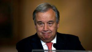 UN Secretary-General Antonio Guterres took office on Jan. 1, 2017.