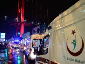 The New Year's Eve attack in Istanbul killed 39 people. The gunman remains at large. /AP