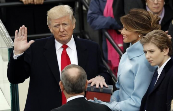 Full text of inaugural address: 'We are transferring power from Washington, D.C.'