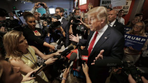 journalists who will coverthe Trump White House were named as personal favorites of Clinton campaign staffers. /AP