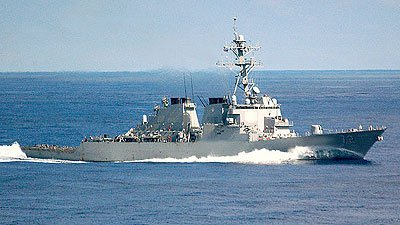 U.S. destroyer fires warning shots at 5 Iranian boats near Strait of Hormuz