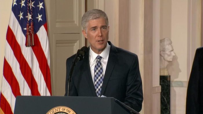 'Very much in the mold of' Scalia: Trump nominates Neil Gorsuch