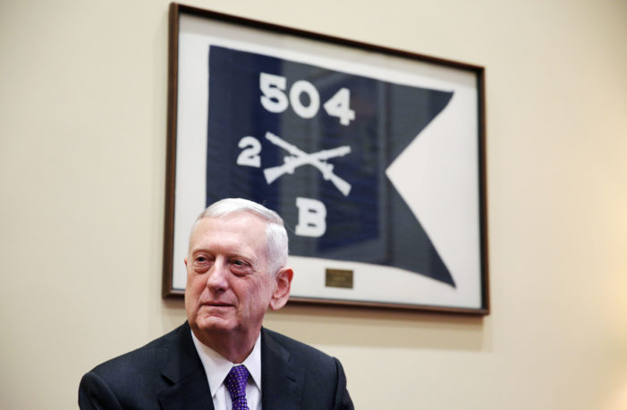 Trump has only one man in place at the Pentagon  but 'Mad Dog' Mattis will do for now