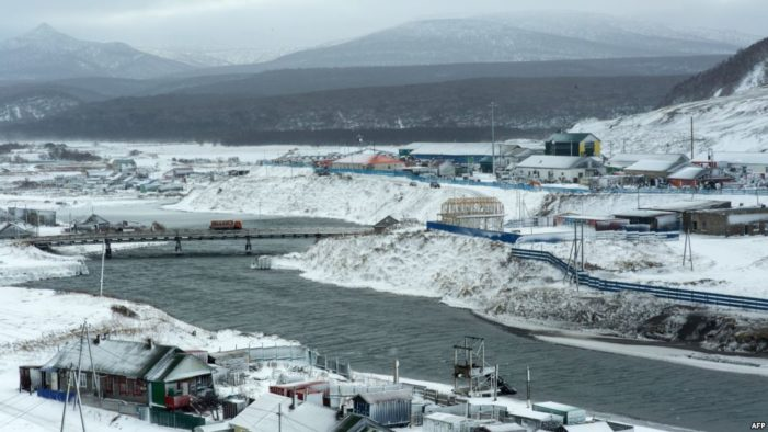 Report: Japan to offer Russia economic plan for disputed island chain