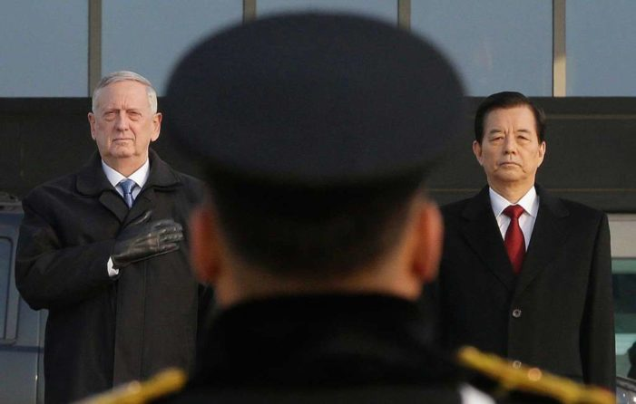 Mattis, on first official visit in Seoul, delivers blunt warning to Pyongyang