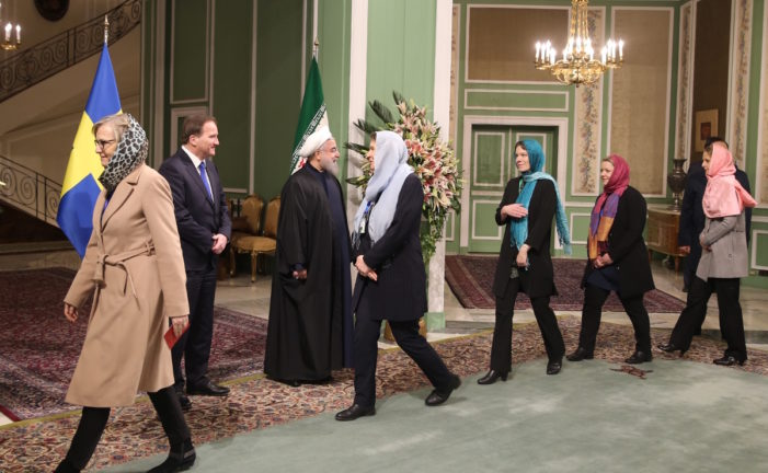Sweden's 'first feminist government' dons hijabs in Iran
