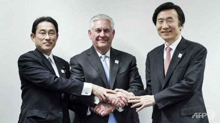 Tillerson: U.S. will back Japan, South Korea with 'full range' of nuclear, conventional capabilities