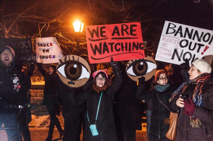 Latest protest target of liberals – Sen. Chuck Schumer?