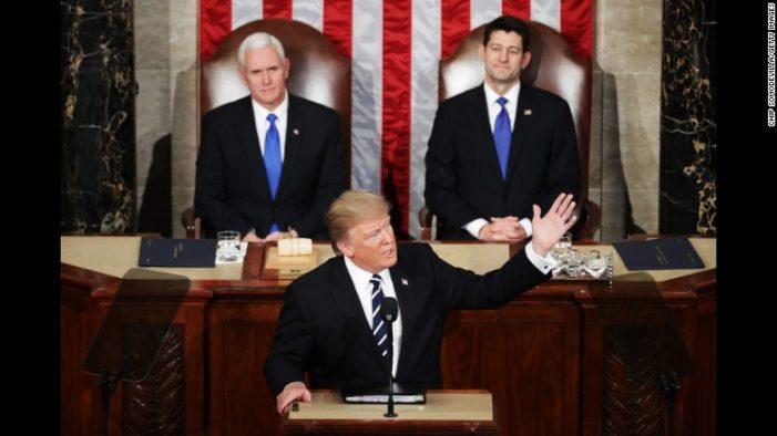 CNN poll find 78 percent liked Trump speech while Democrat behavior got bad reviews