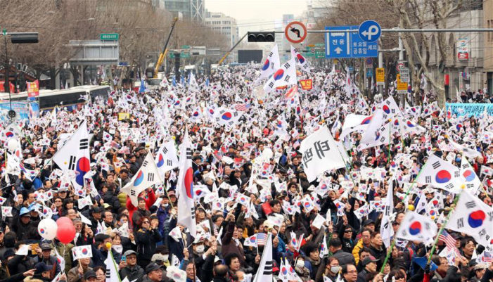 Mattis provides assurances against N. Korean threat as millions protest impeachment in Seoul