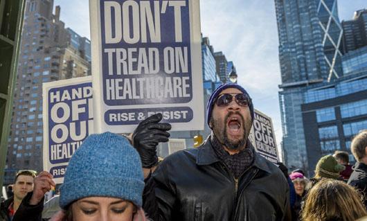 NY: Ant-Trump rally at Trump International Hotel and Tower