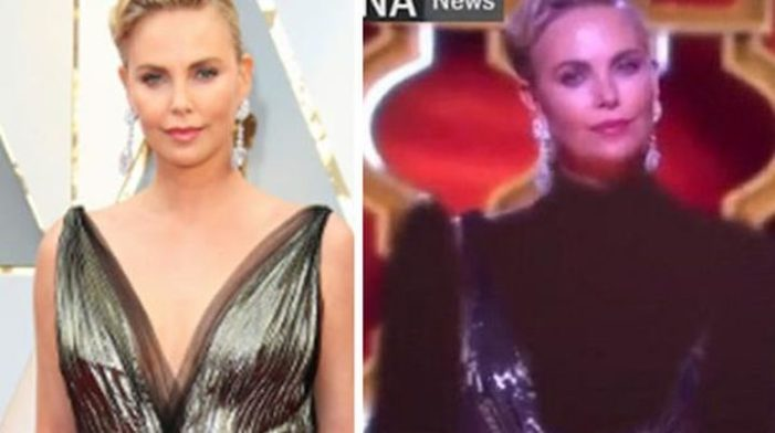Iran's state TV photoshopped Charlize Theron, presenter of its politicized Oscar