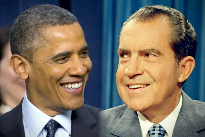 Barack Obama and Richard Nixon: Neither approved the wiretaps of their political enemies