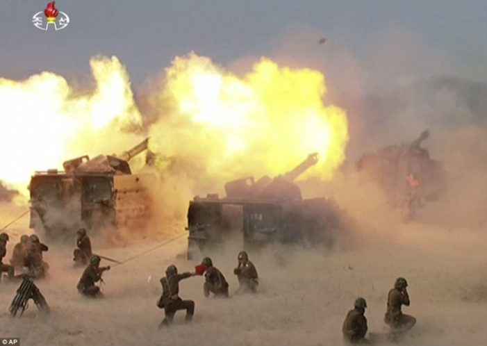 North Korea stages largest live-fire artillery exercise