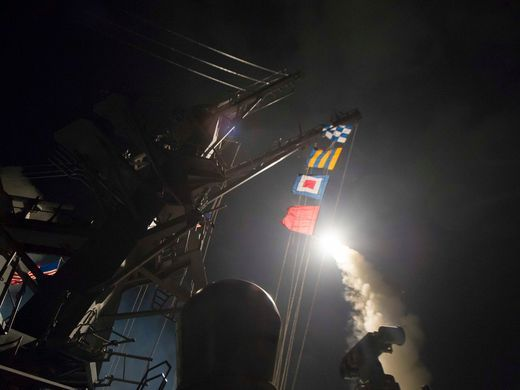 U.S. missile strike on Syrian air base signals dramatic shift in Middle East policy