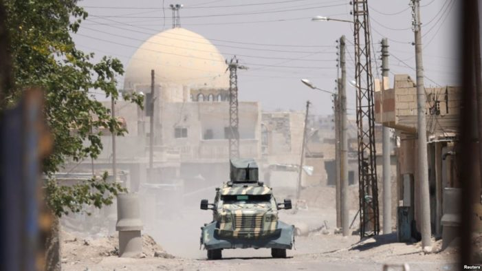 U.S.-backed Kurdish coalition forces close in on ISIS in Raqqa