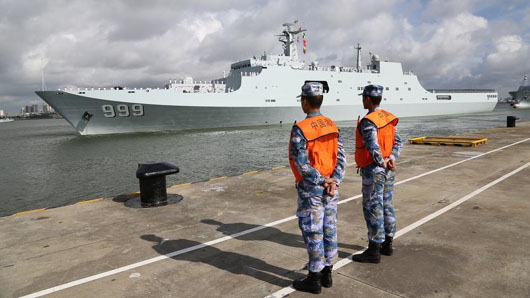 China deploys troops to first overseas base at strategic site in Djibouti