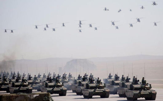 China answers new North Korean missile launch with … massive military parade?