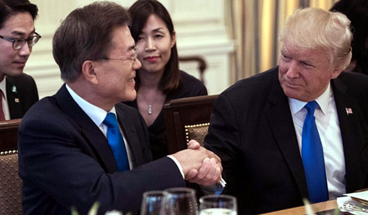 Heartburn in Pyongyang as 'puppet' from Seoul visits White House
