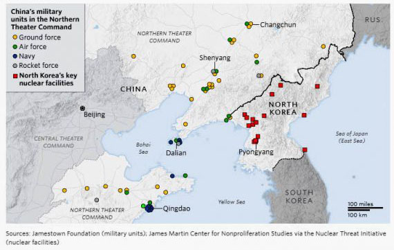 Report details China's extensive military preparations along 880-mile border with N. Korea