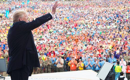 Trump hit homerun in W. Va. : 'Ten members of my cabinet were Scouts'