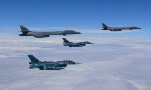 U.S., Japan conduct air exercises near Korean peninsula