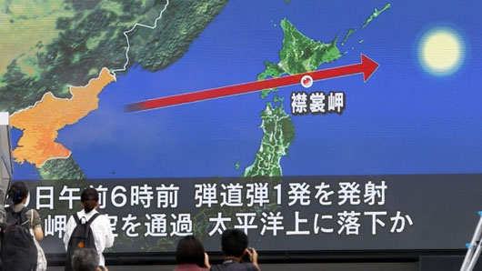 Latest missile launch alarms northern Japan, rattles markets