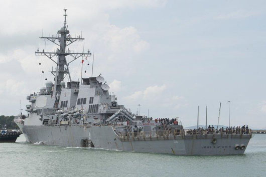 Navy investigates possibility USS John McCain collision was no accident