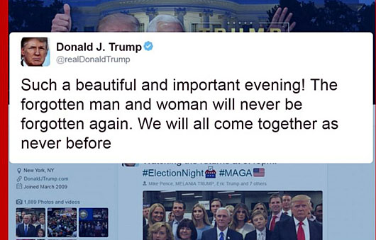 President reveals his 'great love', but what of the forgotten Americans who elected him?
