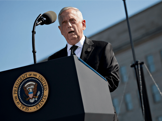 Mattis at the Pentagon on September 11 endorses toughness of U.S. military