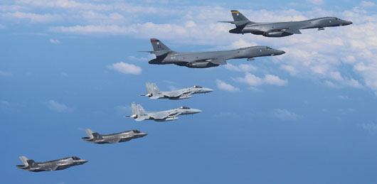 In first, U.S. F-35s joined B-1 bombers in response to N. Korean ICBM test