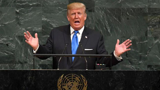 Trump at UN slams rogue states: 'Rocket man' on suicide mission, Iran deal an 'embarrassment'