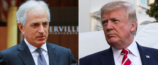 Trump blames Corker for Iran nuclear deal as week of proliferation showdowns loom