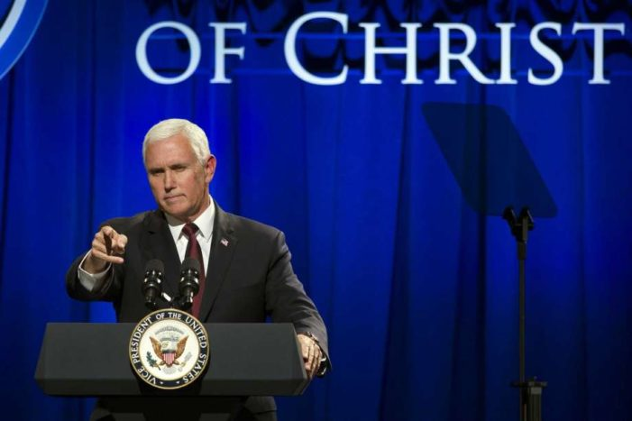 Pence: Trump order  stops 'funding ineffective' UN agencies; U.S. to directly aid persecuted Christians