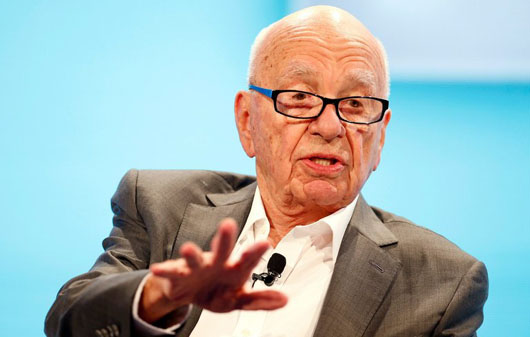 Who is battling social media's confiscation of the free press? Rupert Murdoch, that's who