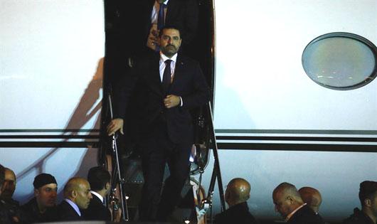 Lebanon's Hariri returns to Beirut 3 weeks after resigning in Riyadh